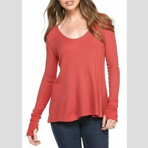 FREE PEOPLE Malibu Thermal in Washed Red - S,M